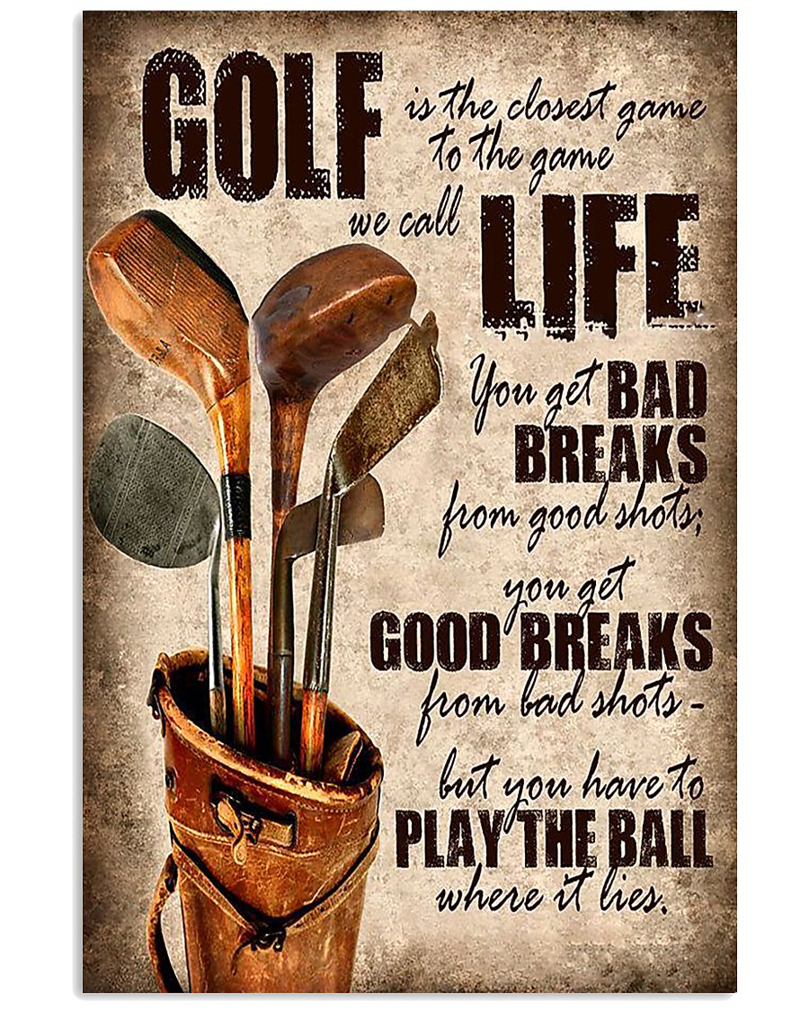 Golf Is Closet Game To Game 11x17 Poster