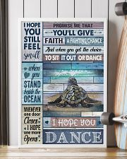 Cool Tone Sea Turtle I Hope You Dance 16x24 Poster lifestyle-poster-4