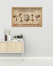 Floral Music Sheet Wonderful World  Baking 36x24 Poster poster-landscape-36x24-lifestyle-01
