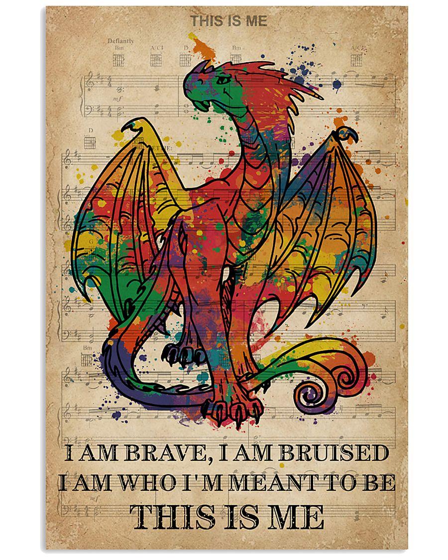 Vintage Music I Am Brave Pride Dragon 11x17 Poster