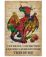 Vintage Music I Am Brave Pride Dragon 11x17 Poster front