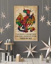 Vintage Music I Am Brave Pride Dragon 11x17 Poster lifestyle-holiday-poster-1