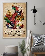 Vintage Music I Am Brave Pride Dragon 11x17 Poster lifestyle-poster-1