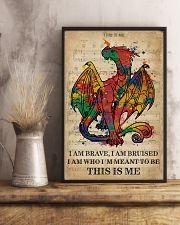Vintage Music I Am Brave Pride Dragon 11x17 Poster lifestyle-poster-3
