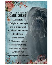 Advice From A Cane Corso 11x17 Poster front