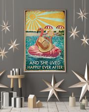 Flamingo Pool Girl Reading Book Lived Happily 16x24 Poster lifestyle-holiday-poster-1