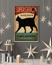 Black Cat Pepper Kitchen 16x24 Poster lifestyle-holiday-poster-1
