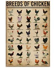 Breeds Of Chickens 16x24 Poster front