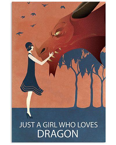 Vintage Girl Who Loves Dragon