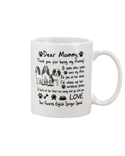 Springer Spaniel Thank You For Being My Mom