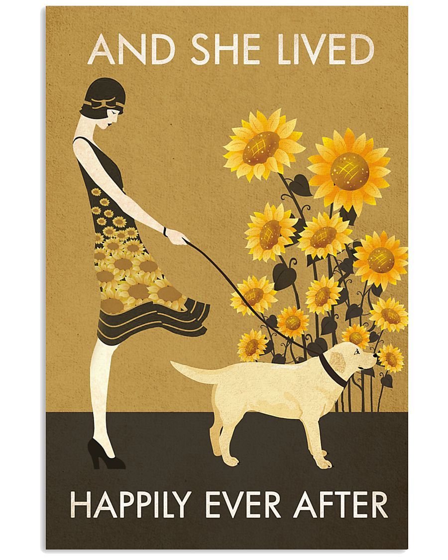 Sunflower Lived Happily Labrador Retriever 11x17 Poster