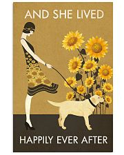 Sunflower Lived Happily Labrador Retriever 11x17 Poster front