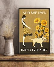 Sunflower Lived Happily Labrador Retriever 11x17 Poster lifestyle-poster-3