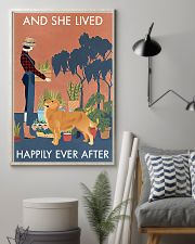 Vintage Lived Happily Gardening Golden Retriever 16x24 Poster lifestyle-poster-1