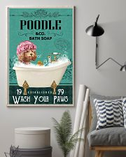 Green Bath Soap Company Poodle 11x17 Poster lifestyle-poster-1