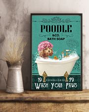Green Bath Soap Company Poodle 11x17 Poster lifestyle-poster-3