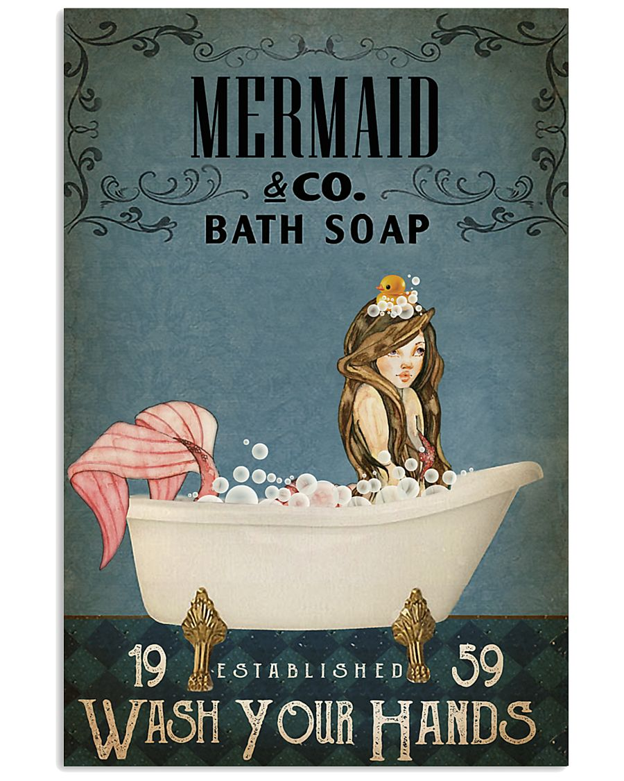 Vintage Bath Soap Mermaid 11x17 Poster