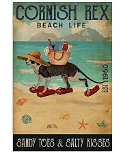 Beach Life Sandy Toes Cornish Rex 11x17 Poster front