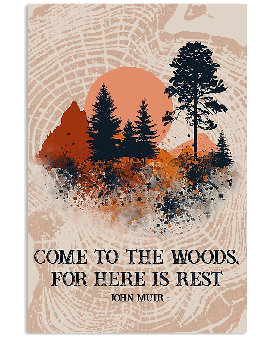 Texture Come To The Woods Camping 16x24 Poster