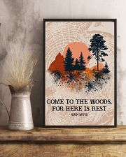 Texture Come To The Woods Camping 16x24 Poster lifestyle-poster-3