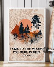 Texture Come To The Woods Camping 16x24 Poster lifestyle-poster-4