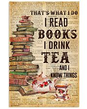 Books And Tea I Know Things 11x17 Poster front