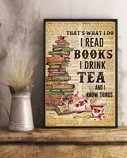 Books And Tea I Know Things 11x17 Poster lifestyle-poster-3