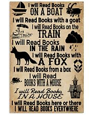 I Will Read Books Here Or There Reading Book 11x17 Poster front