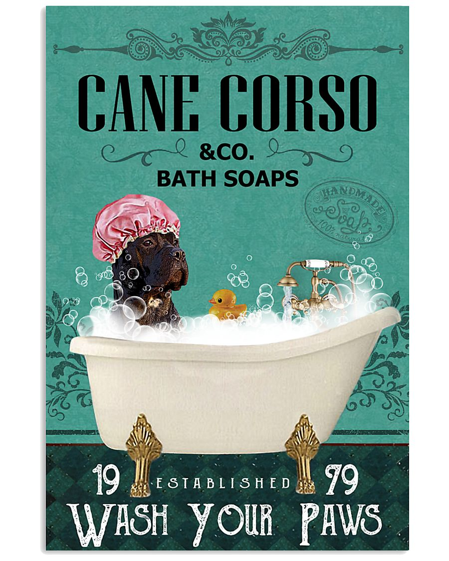 Green Bath Soap Company Cane Corso 11x17 Poster