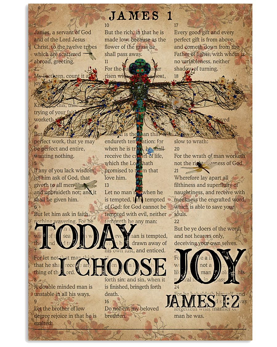 Catchphrase Works Today I Choose Joy Dragonfly 11x17 Poster