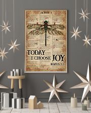 Catchphrase Works Today I Choose Joy Dragonfly 11x17 Poster lifestyle-holiday-poster-1
