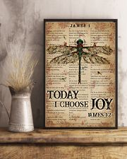 Catchphrase Works Today I Choose Joy Dragonfly 11x17 Poster lifestyle-poster-3