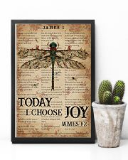 Catchphrase Works Today I Choose Joy Dragonfly 11x17 Poster lifestyle-poster-8