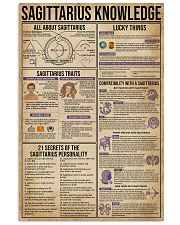 Sagittarius Knowledge Zodiac 11x17 Poster front