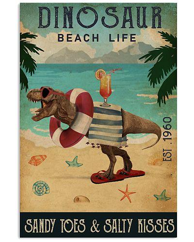 Vintage Beach Cocktail Life Dinosaurs