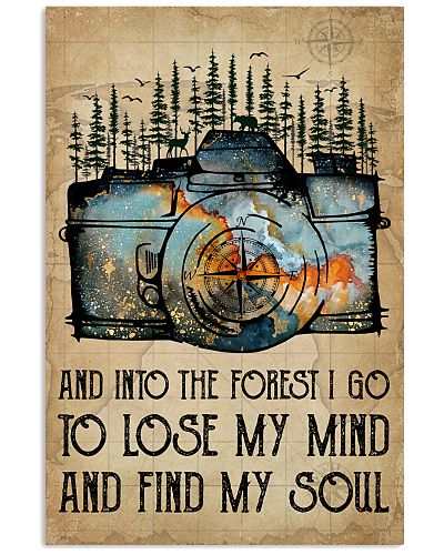 Watercolor Camera And Into The Forest I Go