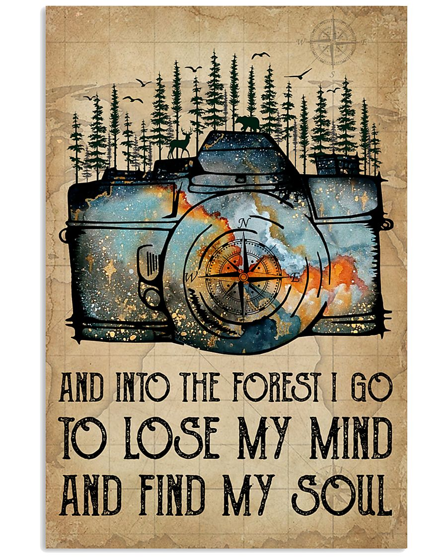 Watercolor Camera And Into The Forest I Go 11x17 Poster