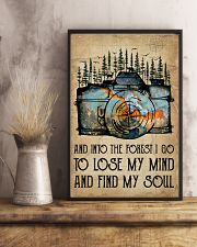 Watercolor Camera And Into The Forest I Go 11x17 Poster lifestyle-poster-3