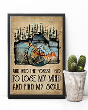 Watercolor Camera And Into The Forest I Go 11x17 Poster lifestyle-poster-8