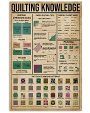 Quilting Knowledge 11x17 Poster front