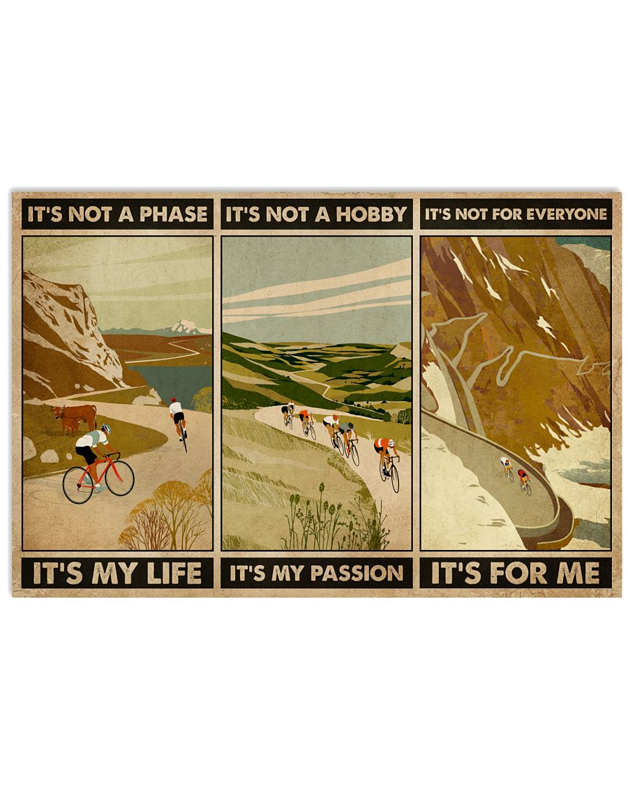 It's For Me Cycling 24x16 Poster