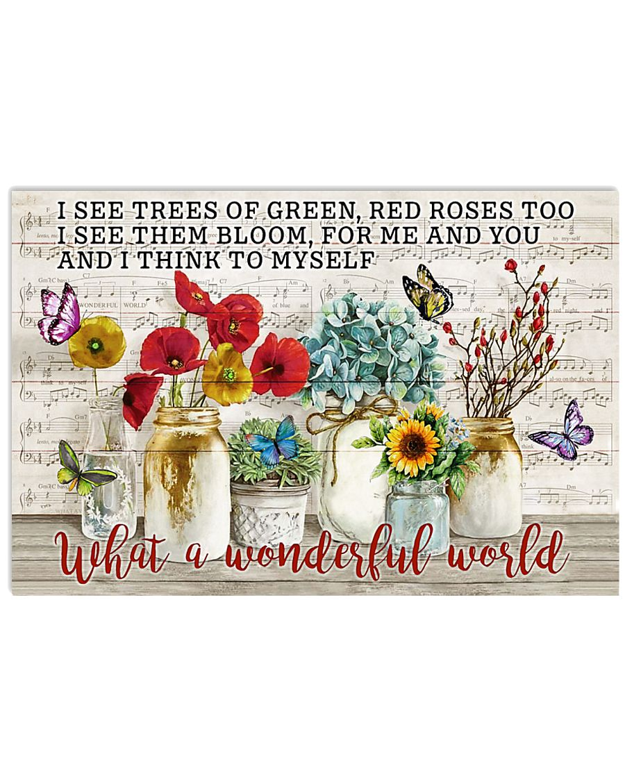 Pallet Music Sheet What Wonderful World Butterfly 36x24 Poster
