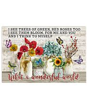Pallet Music Sheet What Wonderful World Butterfly 36x24 Poster front