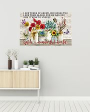 Pallet Music Sheet What Wonderful World Butterfly 36x24 Poster poster-landscape-36x24-lifestyle-01
