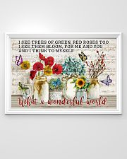 Pallet Music Sheet What Wonderful World Butterfly 36x24 Poster poster-landscape-36x24-lifestyle-02