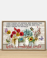 Pallet Music Sheet What Wonderful World Butterfly 36x24 Poster poster-landscape-36x24-lifestyle-03