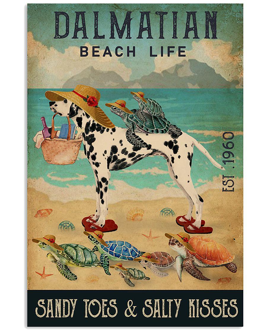 Turtle Beach Life Dalmatian 11x17 Poster