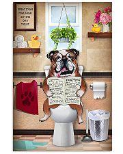 Bulldog Reading Dog News 11x17 Poster front