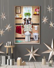 Bulldog Reading Dog News 11x17 Poster lifestyle-holiday-poster-1