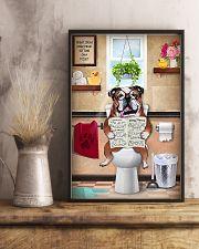 Bulldog Reading Dog News 11x17 Poster lifestyle-poster-3